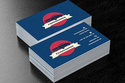 Amerikanisches Design Händler Visitenkarten Netprints