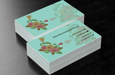 Hängende Blumen Pflanzlich Visitenkarten Netprints