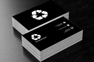 Türkis Recycling Umweltschutz Visitenkarten Netprints