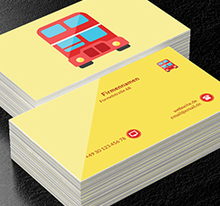 London Bus, Transport, Busse - Visitenkarten Netprint