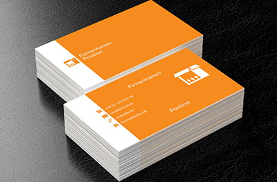 Orange Box, Transport, Kurierdienste - Visitenkarten Netprint