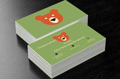 Roter Teddybär Kinderbetreuung Visitenkarten Netprints