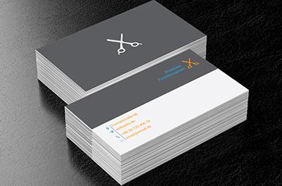 Schwarzes Rasiermesser Friseursalon Visitenkarten